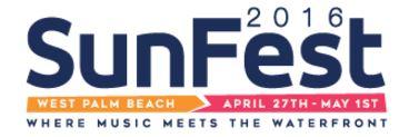 Sunfest 2016 Logo